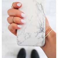 Hard Case Iphone Cover in Black and White Marble 6