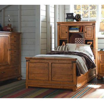 3900 Bryce Canyon - Complete Bookcase Bed With Trundle - Twin