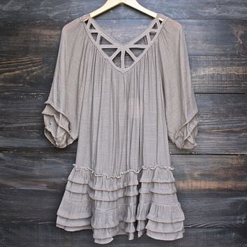summertime sadness festival dress - taupe