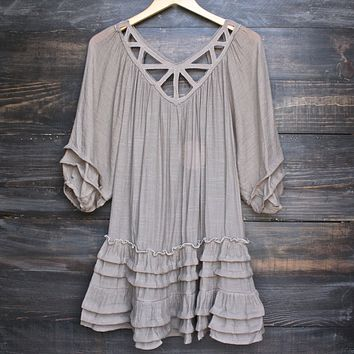 Summertime Sadness Festival Dress in Taupe
