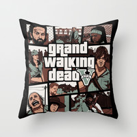 Grand Walking Dead Throw Pillow by Le.duc