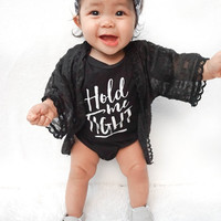 TWO DAY SALE Baby Girl Clothes Joy Shirt Baby Shower Gift Bodysuit Baby Girl Shirt Hipster Baby Clothes Baby Gift Black and Gold