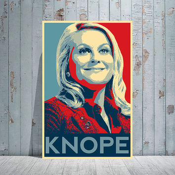 LESLIE KNOPE / Parks And Recreation / 'HOPE' Poster Art Style