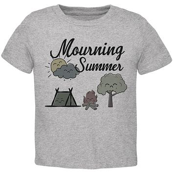 Back To School Mourning Summer Beach Toddler T Shirt
