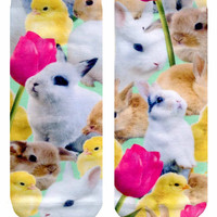 Easter Bunnies Ankle Socks