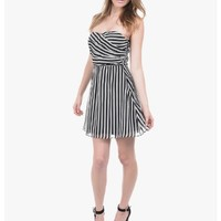 Black Cutting Lines Strapless Party Dress | $10.00 | Cheap Trendy Club and Party Dresses Chic Disco