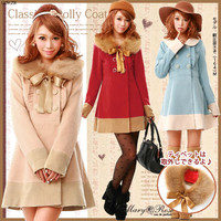Fur & Frill by color Dolly coat