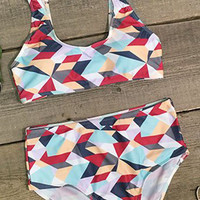 Cupshe Found My Way Tank Bikini