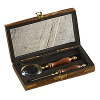 Vintage Classic Utility Magnifier and Letter Opener in Wooden Case