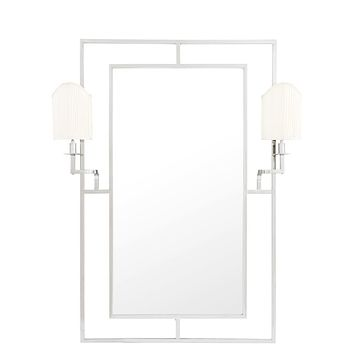 Silver Mirror With 2 Lamps | Eichholtz Astaire
