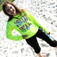 """WILDCAT"" - Neon Yellow Volleyball Long Sleeve"