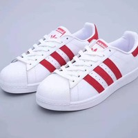 ADIDAS SUPERSTAR popular seller of classic seashell styles with neutral casual sneakers