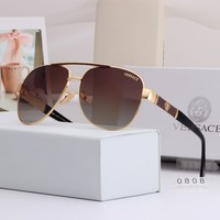 Brown Versace Women Casual Summer Sun Shades Eyeglasses Glasses Sunglasses