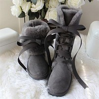 UGG hot sale new high tube straps couple snow boots Shoes