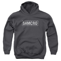 SONS OF ANARCHY/SAMCRO-YOUTH PULL-OVER HOODIE - CHARCOAL -