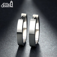 Effie Queen 316 L Stainless Steel Earrings for Women Perfect Polished Circle Stud Earrings Trendy Jewelry IE17