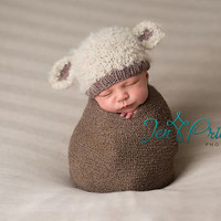Newborn Baby Girls Boys Crochet Knit Costume Photo Photography Prop (only hat)= 4457474180
