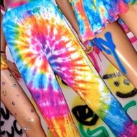 SWEET LORD O'MIGHTY! TIEDYE SLOUCH PANTS
