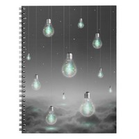 Shine From Within (Lightbulbs) Notebook