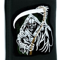 Grim Reaper Death Tri-fold Wallet w/ Chain Heavy Metal Clothing