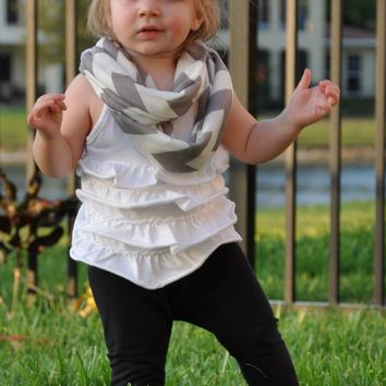 Grey Chevron Toddler Infinity Scarf