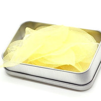 B20 Leaf Soap. Hand Soap. Yellow. One Time Use Soap. Travel Soap.