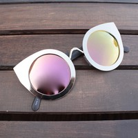 FINAL SALE - quay - tainted love cat-eye sunglasses