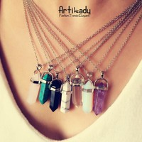 Multi Color Quartz Necklaces
