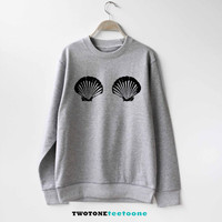 Shell Bra Boobs Boob Sweatshirt Sweater Unisex