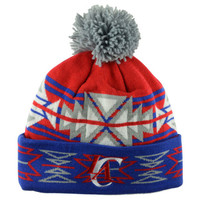 Los Angeles Clippers NBA Geotech Cuffed Pom Knit
