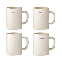 Rae Dunn Relax Mugs - Set of 4