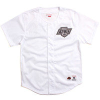 Los Angeles Kings Mesh Button Front Jersey White
