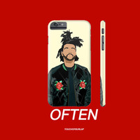 Weeknd XO Floral Pattern Illustration Apple IPhone 4 5 5c 6 6s Plus Galaxy Note Case Drake ovo