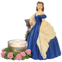Scarlett O'Hara Resin Tealight Candle Holder Figurine
