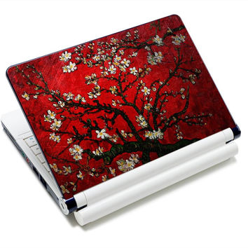 """Van Gogh Red Flower Art Anti-Slip Laptop Sticker Skin Decal Cover Protector For 11.6"""" -15.4"""" Sony Toshiba HP Dell Acer Thinkpad"""