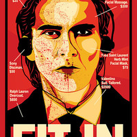 'American Psycho: Fit In Movie Poster' Poster by markitzero