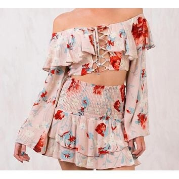 Jojo Floral Two-Piece Dress