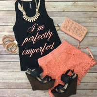 Precious Lace Shorts: Peach