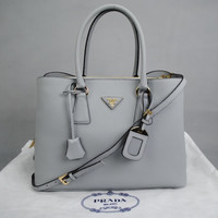 Prada Double Calfskin Ladies Bag Damentasche Pre-Owned Like New Free DHL Shipping