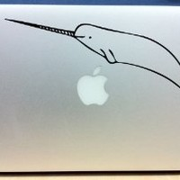 Happy Narwhal - Vinyl Macbook / Laptop Decal Sticker Graphic
