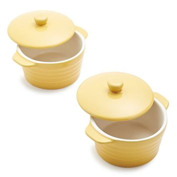 Oven-to-Table Mini Cocottes, Set of 2