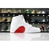 Air Jordan 1 Red Heart Sport Sneaker Shoe 36 46