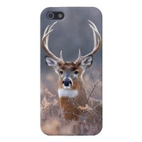 Whitetail Deer In Field Autumn Season Cover For iPhone 5