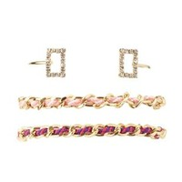 Gold Chain Friendship & Cuff Bracelets - 3 Pack by Charlotte Russe