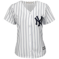 New York Yankees Majestic Women's Cool Base Jersey – White