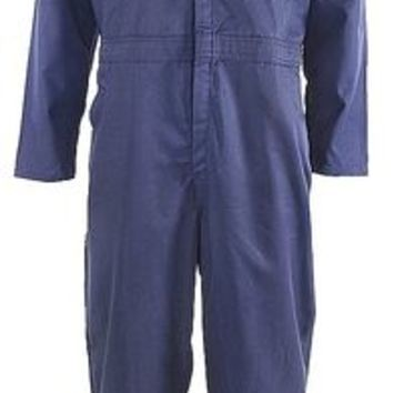 LONG SLEEVE TWILL COVERALLS, NAVY, 38
