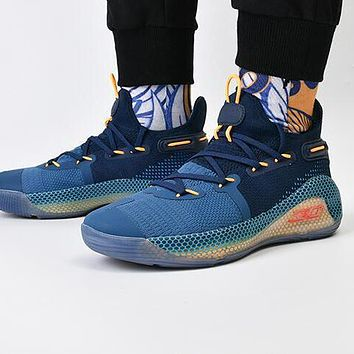 Bunchsun Under Armour Curry 6 Fashion Men Breathable Sport Basketball Shoes Sneakers  Navy Blue