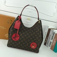 LV Louis Vuitton WOMEN'S MONOGRAM CANVAS HANDBAG TOTE BAG-KUYOU