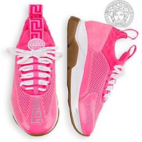 Versace men and women fashion trend platform low-top casual sneakers pink