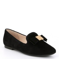 Cole Haan Tali Bow Detail Suede Loafers | Dillards